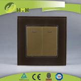 Modo certificato del gruppo 1 del vetro temperato 2 di standard europeo dei CB del CE di TUV con l'interruttore ROSSO della parete del LED
