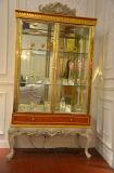 0066 Europäer-antike Schlafzimmer-Möbel-fester hölzerner schnitzender Schaukasten