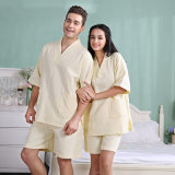 Bathrobe do Waffle do algodão dos pares de /Home do hotel/terno/pijama/Nightwear/roupa de noite relativos à promoção do banho