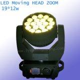 19X12W Osram 급상승 LED 광속 이동하는 맨 위 빛