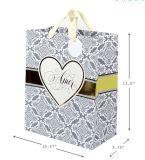 Sacos de compra de papel Foldable do presente do ouro barato feito sob encomenda grandes