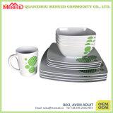 Квадратный Dinnerware меламина формы 16PCS
