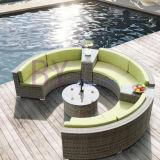 خارجيّ فندق وقت فراغ ناد مبتكر مستديرة نصف دائرة إدماج [رتّن] أريكة