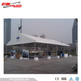 30mx55m Temporary Catering Tent with Glass barrier on 4 simmers