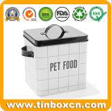 猫または犬のための5.5Lペットフードの金属の容器の記憶の錫