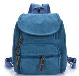Saco de ombro dobro pequeno do saco japonês e coreano da lona do estudante da forma da trouxa, trouxa da lona
