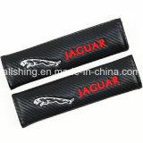 Jaguar-Auto-Firmenzeichen-Sicherheitsgurt-Kohlenstoff deckt Schulter-Auflagen ab