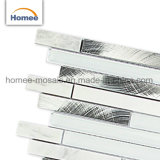 Aluminiummischung super weiße Backspalsh Glassteinmosaik-Fliese