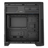 G561 1xusb3.0の黒い賭博のケースのFramlessの完全なWindowsの側面パネル、Comineおよび3X 32LEDs 12cmのファンで、覆われる上PSUハウジング