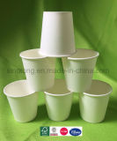 Desechables de diferentes tamaños personalizados de alta calidad aceptada de la Copa de papel blanco