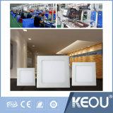 L'énergie de l'enregistrement 9W Square Lumen élevé à l'intérieur de l'éclairage LED pour panneau