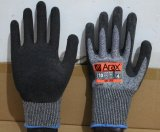 Отрезок и удар - упорные перчатки безопасности руки при покрынный Crinkle латекса