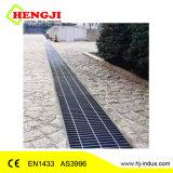 En1433 como3996 Rejilla de acero inoxidable con canales de plástico de HDPE