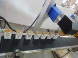 Laser perfetto - Macchina in linea della marcatura del laser del CO2 di volo della data per cuoio di plastica di legno