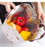 Охладитель повелительниц мешка обеда кота малышей животный портативный изолированный кладет термально Tote в мешки мешка коробки обеда холстины людей женщин пикника еды