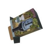 Rectángulo de regalo de papel plegable elegante de la cartulina