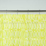 Nuevo diseño en una simple cortina de ducha baño diseño amarillo