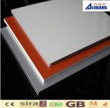 PVDF y los paneles de pared compuestos de aluminio decorativos plásticos