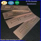Плита мешка Nameplate логоса металла с Oxidization