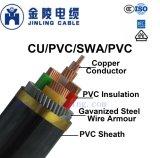 Nyby 0.6/1кв низкое напряжение питания изоляцией ПВХ бронированных кабелей
