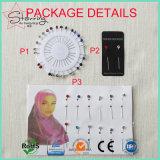 Perni musulmani capi di cristallo semplici di Hijab di bei colori come Pin del Brooch