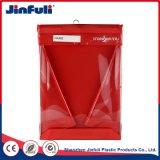 En PVC rouge personnalisé PP sac Ziplock Dossier de fichiers
