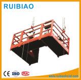 El Pin pulsa la góndola de la construcción de la plataforma de la elevación del trabajo