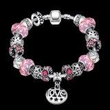 Regalo promocional redonda de cristal ajustable joyas Pulsera de perlas
