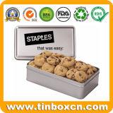 Almacenamiento de alimentos de emergencia de metal rectangular de estaño para aperitivos galletas Cookies