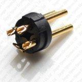 Goldenes XLR 3 Pin-männlicher Verbinder-Mikrofon-Kabel steckt Enden-Verbinder-Qualitäts-Schwarzes ein