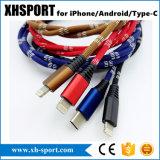 cabo do USB do carregador dos acessórios do telefone 1-Meter-Long móvel/sincronização para o iPhone