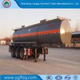 Los ejes de 3/4/hidróxido de sodio Naoh semi remolque cisterna de transporte