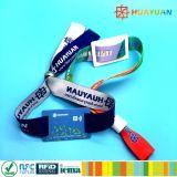 In hohem Grade Gewebe-Wristband gesponnenes Armband des Sicherheit Tür-Verschluss-RFID für Musik-Ereignis-Festival