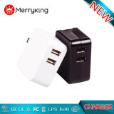極度の速い充満携帯電話の充電器5V 2.1A EU 2 USBのポートのマイクロUSBの充電器の壁プラグ力のアダプター