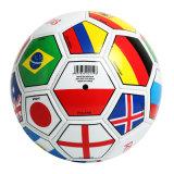 Copa Mundial de la bandera del país balón de fútbol en promoción