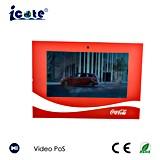 A4 Grootte LCD van 10.1 Duim VideoBevordering Brochuures met Houder voor Coca-cola