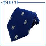 Klassische blaue Polyester-Krawatte für Highschool
