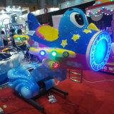 La fibra de vidrio con Monedas Amusement columpio infantil Rides up&down avión para Parque Infantil (K160)