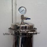 Ss 304 Boîtier de filtre à eau en acier inoxydable pour le traitement Pre-Filtration cartouches DOE