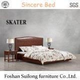 Amerikanische Art-Gewebe-Bett-Leder-Bett-Möbel