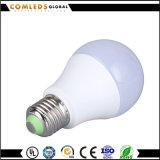 luz de bulbo de 24V Plastic+Aluminum LED A60 con RoHS