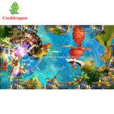 Машина игры рыболовства человека 8 шариков таблицы аркады рыб задвижки толкателя монетки игроков видео-