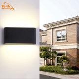 Aluminio negro LED del rectángulo del surtidor 6W de China fuera de la luz de la pared
