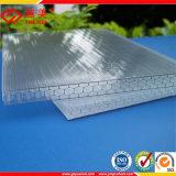 De color UV transparente de policarbonato PC hueco techado Precio Hoja