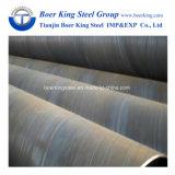 Tubo del acciaio al carbonio, livello del grado B/ASTM A36/ASTM A252 di api 5L del tubo a spirale d'acciaio di Pipe/SSAW saldato spirale per il trasporto del petrolio/gas/acqua o accatastamento