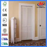 Bathroom White Oak Wooden Internal Louver Folding Bedroom Door
