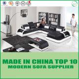 Sofás modernos de la esquina del cuero genuino de los muebles de la sala de estar