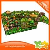Campo da giuoco molle del campo da giuoco della foresta di tema dei bambini dell'interno della giungla da vendere
