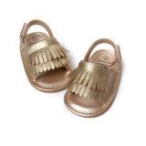 Primi camminatori del bambino della nappa dei soli di estate sandali antisdrucciolevoli di gomma unisex di Prewalker