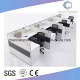 주문을 받아서 만들어진 나무로 되는 테이블 위원회 4 시트 L 모양 사무실 워크 스테이션 CAS-W1832
